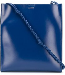 jil sander tangle braided strap crossbody bag - blue