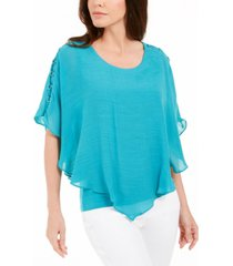 jm collection gauze cape top, created for macy's