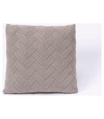 capa de almofada tricot 50x50 c/zíper sofa trico cod 106350 cinza claro