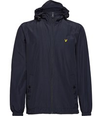 zip through hooded jacket dun jack blauw lyle & scott