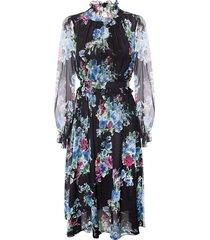 sukienka black floral dress