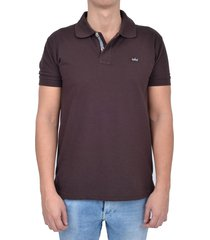 camiseta tipo polo sak denim/28000-16 - cafe