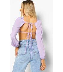 top met open rug, lavender