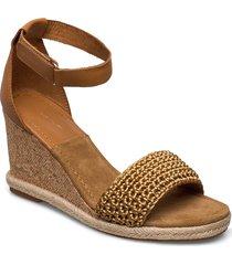 pelicanbay wedge sandal sandalette med klack espadrilles brun gant