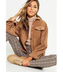 oversized corduroy jasje, geelbruin