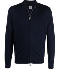 eleventy fitted zipped track top - blue