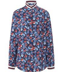 blouse met lange mouwen en bloemenprint van looxent multicolour