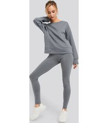 na-kd basic basic highwaist leggings - grey