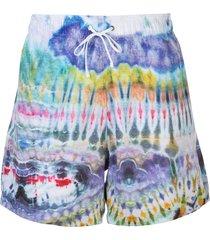 amiri tie-dye swimming shorts - blue