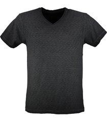 petrol stevig donkergrijs t-shirt valt kleiner