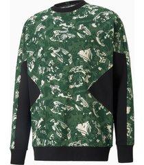 puma man city tfs voetbalsweater met ronde hals , groen/zilver/aucun, maat m