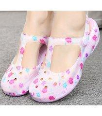 sandalias planas antideslizantes para mujer-violeta