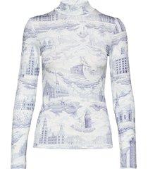 elsi t-n t-shirt ls aop 10908 t-shirts & tops long-sleeved blauw samsøe samsøe
