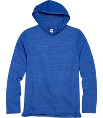 alternative apparel blue eco jersey hoodie pullover