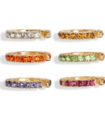 women's 8 other reasons set of 6 mini pave ear cuffs