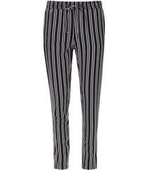 pantalón doble rayas color negro, talla 10
