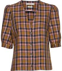aciegz shirt ma19 blouses short-sleeved multi/mönstrad gestuz