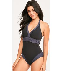 edge colourblock underwire shaping one-piece swimsuit d-g cup