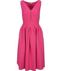 stella mccartney zip flared midi dress