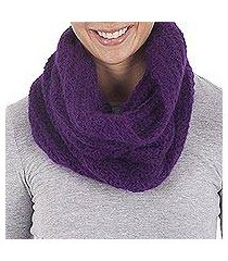 100% alpaca neck warmer, 'boysenberry passion' (peru)