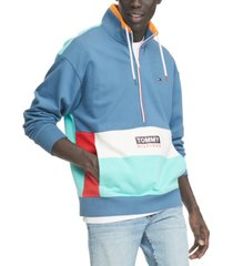 tommy hilfiger denim men's travis half-zip colorblock sweatshirt