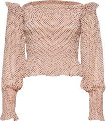 lara dot top blouse lange mouwen roze allsaints