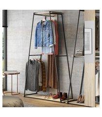 estante roupeiro industrial be mobiliário tog com cabideiro