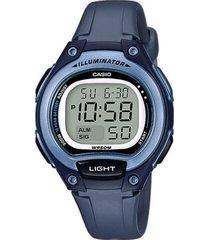 reloj casio lw_203_2av azul resina mujer