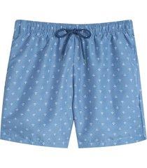 pantaloneta playa anclas color azul, talla l