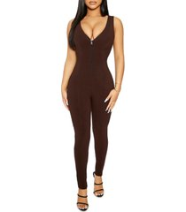 the nw snatched up v-neck jumpsuit