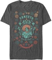 disney pixar men's coco ernesto remember me floral style, short sleeve t-shirt