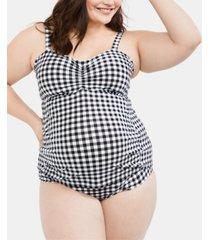 motherhood maternity plus size tankini swimsuit