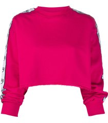 chiara ferragni contrasting side panel sweatshirt - pink