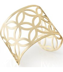 bracelete dourado metal