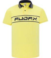 camiseta tipo polo amarilla audax con bolsillo