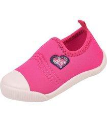 sneakers chique top calce fã¡cil pink - pink - menina - dafiti