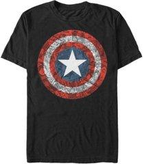 marvel men's comic collection captain america comic style shield short sleeve t-shirt