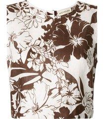 nicholas blusa com estampa floral - branco