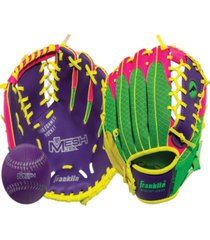 "franklin sports 9.5"" teeball meshtek glove ball set - right handed"