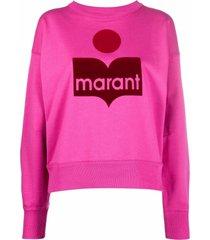 isabel marant étoile fuchsia cotton-blend sweatshirt
