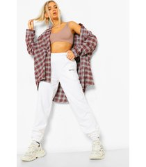 oversized flanneled shirt, brown