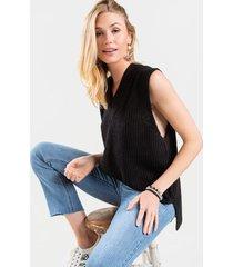 cameron sweater tank top - black