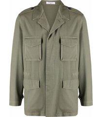 boglioli cargo-pocket military jacket - green