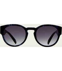 scotch & soda biscayne - round-frame acetate sunglasses