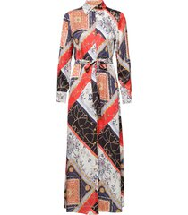 3354 - mikelle maxi dress galajurk multi/patroon sand