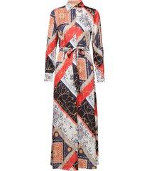 3354 - mikelle maxi dress galajurk multi/patroon sand