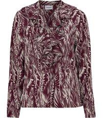 blus vmenjoy l/s v neck blouse