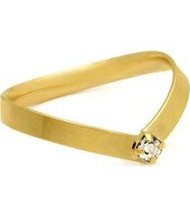 anel horus import fio chato em v cristal dourado