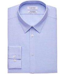 calvin klein infinite non-iron blue micro-dot slim fit stretch dress shirt