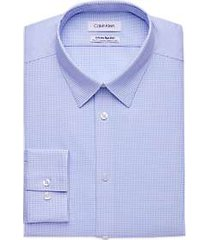 calvin klein infinite non-iron blue micro-dot slim fit stretch dress shirt